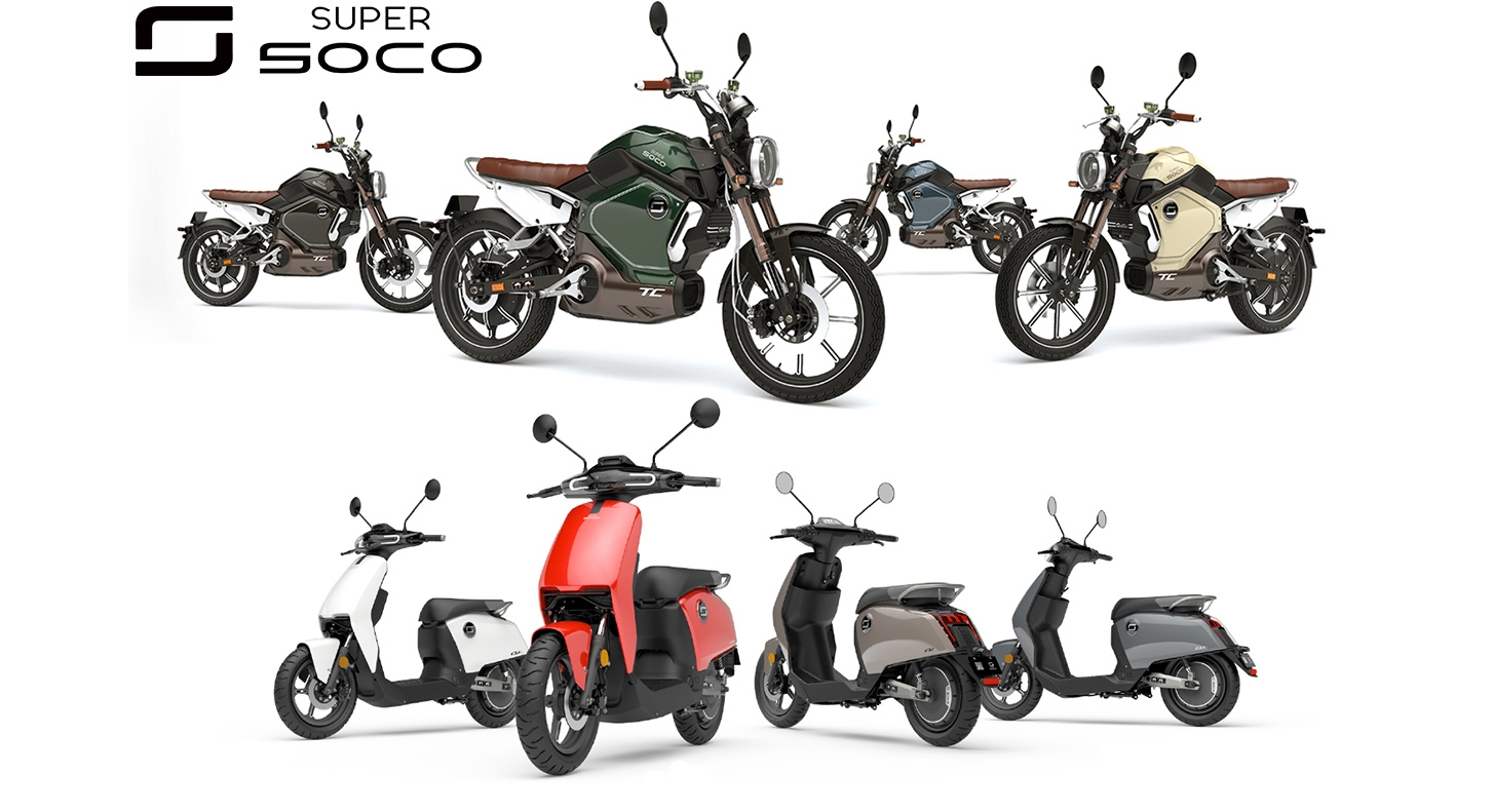 Super Soco E-scooters en brommers