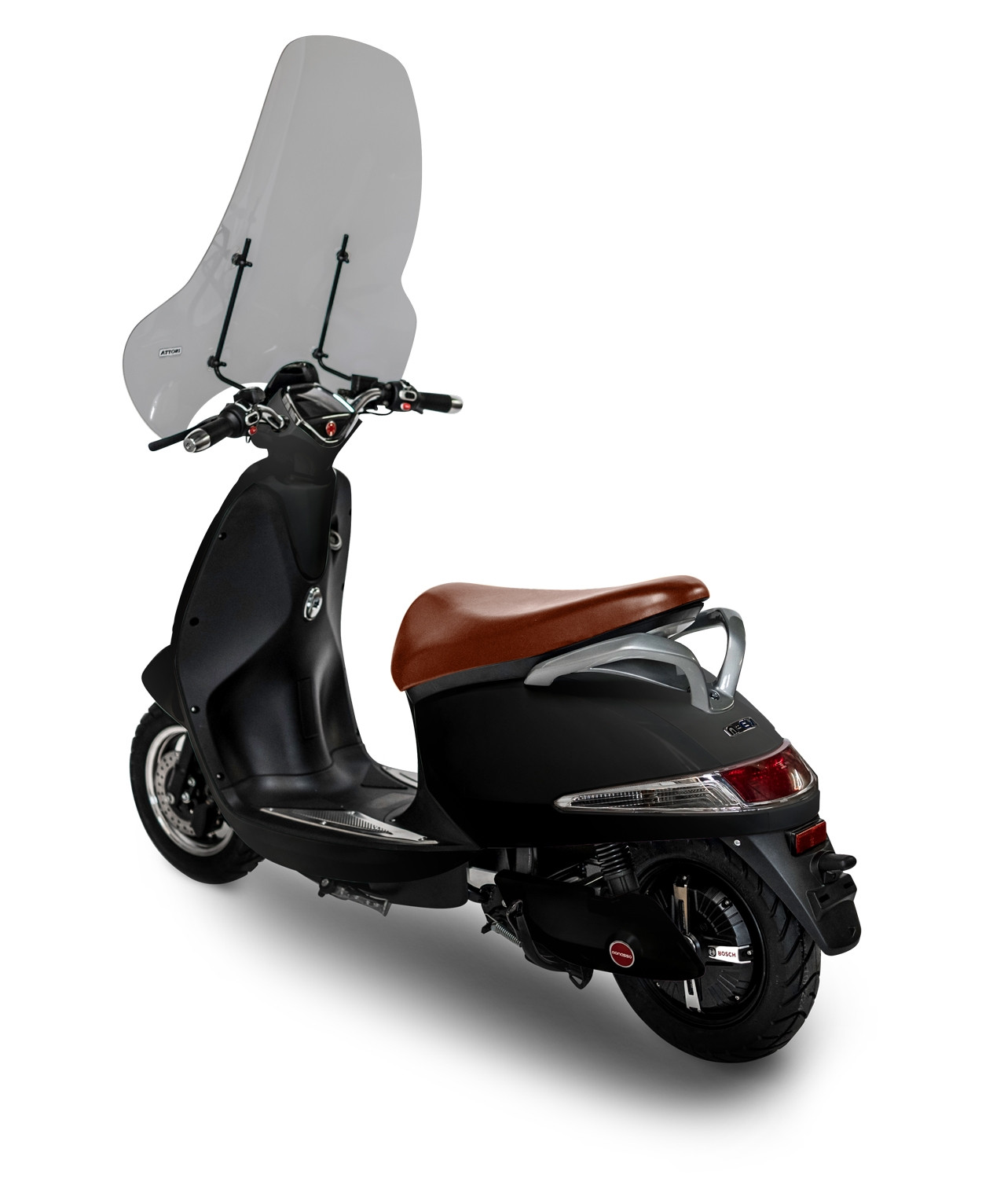 Windscherm Monasso Scooter-Smoke
