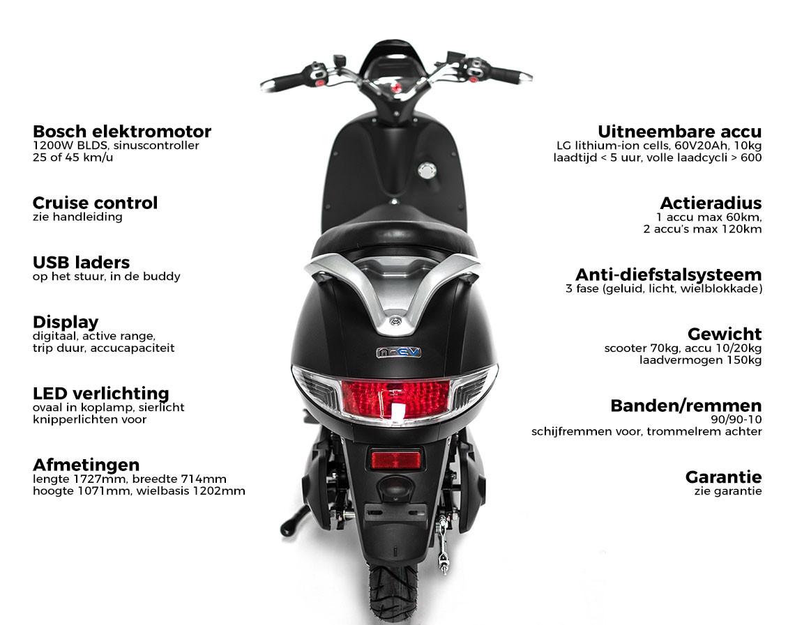 Monasso ev scooter rood