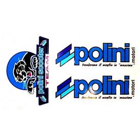 Stickerset Polini. 3 Delig.