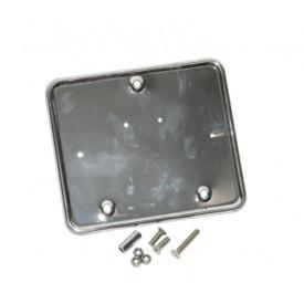 Houder kentekenplaat chroom Vespa Lx / S + Piaggio Fly / Zip