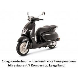 Scooterverhuur.  1 dag  inclusief luxe lunch voor 2 personen.