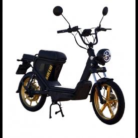 agm goccia elektrische brommer scooter zwart gold goud