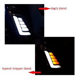 Led knipperlicht set Voorkant SYM Fiddle 2 Helder weglopend