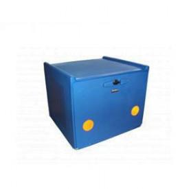 Pizzakoffer 90 L. Blauw.