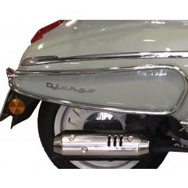Sierbeugelset achter Peugeot Django. Chroom. Origineel