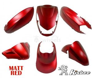 Beplatingset (kappenset) Peugeot Kisbee Mat Rood