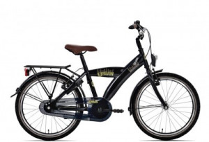 "Bike Fun 20"" Urban Zwart, slot en led verlichting!"