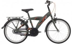 "Bike Fun 20"" Urban matgroen, slot en led verlichting!"