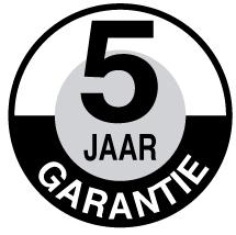 5 jaar garantie bakfiets