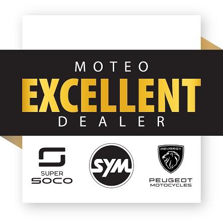 moteo excellent dealer sym - peugeot - super soco scooters