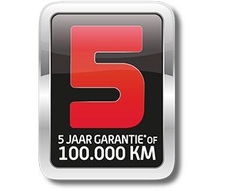 5 jaar SYM garantie